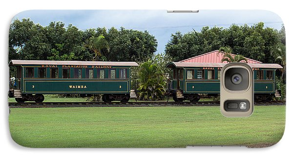 Galaxy Case featuring the photograph Train Lovers by Suzanne Luft