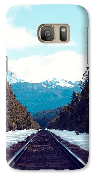 Train To Mountains Galaxy Case by Kim Fearheiley