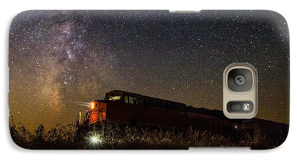 Train To The Cosmos Galaxy Case by Aaron J Groen