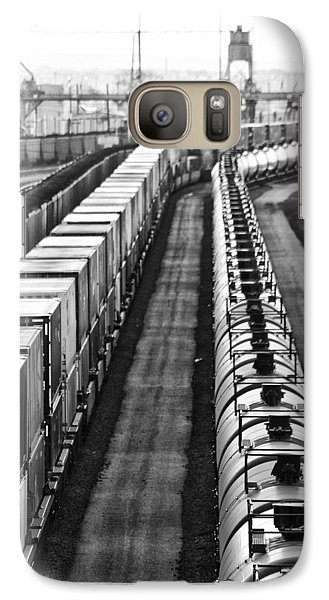 Galaxy Case featuring the photograph Trains Stop For Servicing by Bill Kesler
