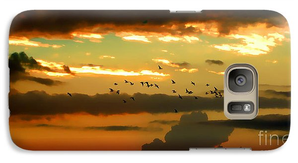 Galaxy Case featuring the photograph Sunset 1 by Ze  Di