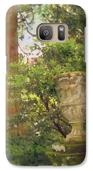 Galaxy Case featuring the painting Tranquil Corner In Dawyck Botanic Garden by Richard James Digance