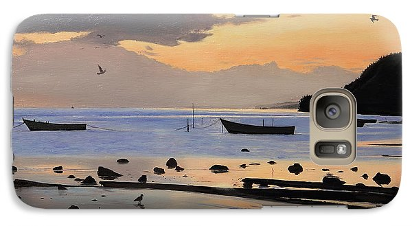 Galaxy Case featuring the painting Tranquil Dawn by Glenn Beasley