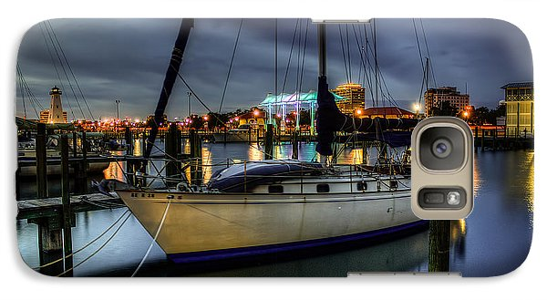 Galaxy Case featuring the photograph Tranquil Harbour Evening by Maddalena McDonald