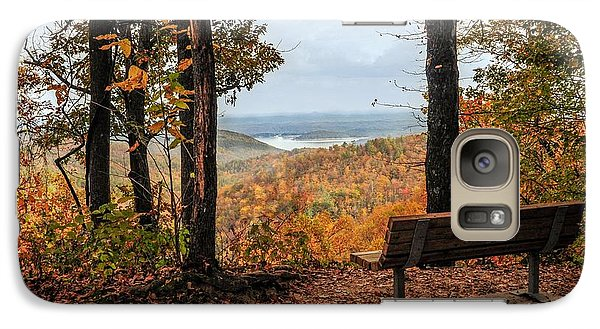 Galaxy Case featuring the photograph Tranquility Bench In Great Smoky Mountains by Debbie Green