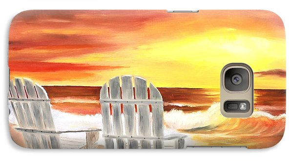 Galaxy Case featuring the painting Tranquility by Bev Conover