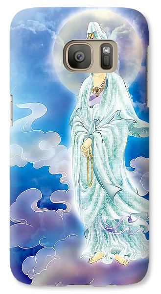 Galaxy Case featuring the photograph Tranquility Enabling Kuan Yin by Lanjee Chee