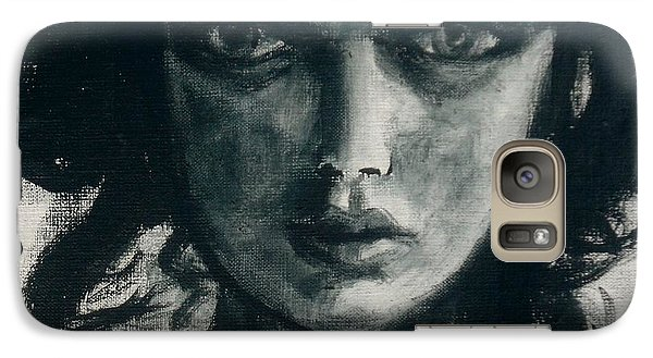 Galaxy Case featuring the painting Portait Of Beatcee May by Jarmo Korhonen aka Jarko