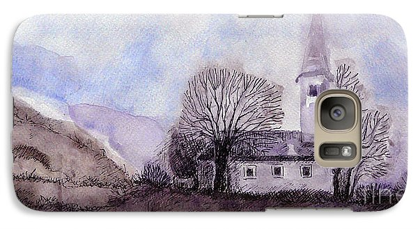 Galaxy Case featuring the painting Tranquility by Jasna Dragun