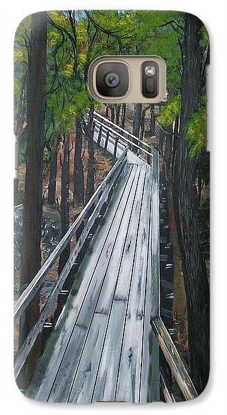 Galaxy Case featuring the painting Tranquility Trail by Sharon Duguay