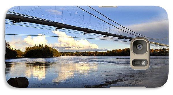 Galaxy Case featuring the photograph Transalaska Pipeline Bridge by Cathy Mahnke