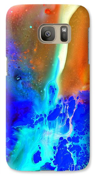 Galaxy Case featuring the painting Transfer by Christine Ricker Brandt