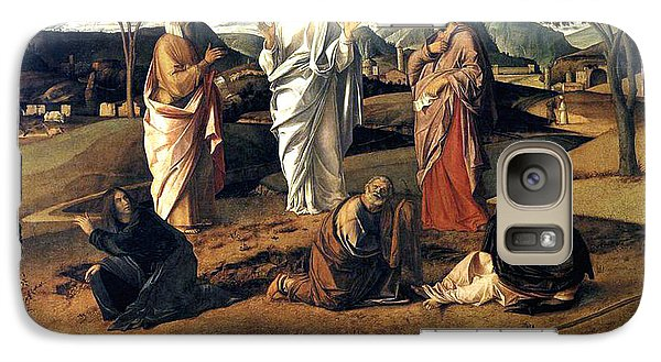 Galaxy Case featuring the painting Transfiguration Of Christ 1487 Giovanni Bellini by Karon Melillo DeVega