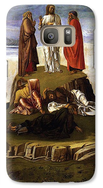 Galaxy Case featuring the painting Transfiguration Of Christ On Mount Tabor 1455 Giovanni Bellini by Karon Melillo DeVega