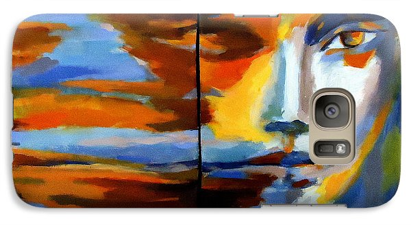 Galaxy Case featuring the painting Transition - Diptic by Helena Wierzbicki