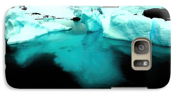 Galaxy Case featuring the photograph Transparent Iceberg by Amanda Stadther