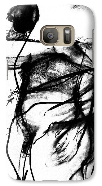 Galaxy Case featuring the drawing Trapped by Helen Syron