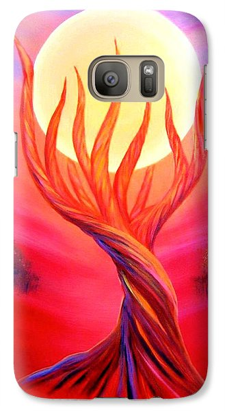 Galaxy Case featuring the painting Trapped Moon by Lilia D