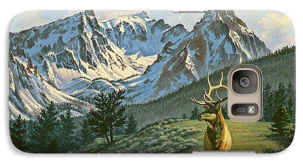 Bull Galaxy S7 Case - Trapper Peak - Bull Elk by Paul Krapf