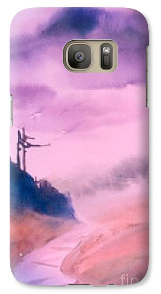 Galaxy Case featuring the painting Traquility by Fereshteh Stoecklein