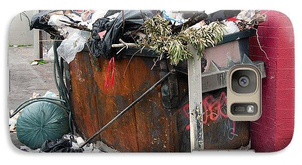 Galaxy Case featuring the photograph Trash Dumpster In Slums by Gunter Nezhoda