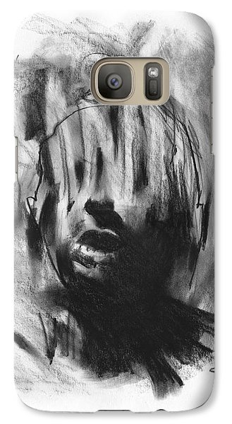 Galaxy Case featuring the drawing Gaza Trauma by Paul Davenport