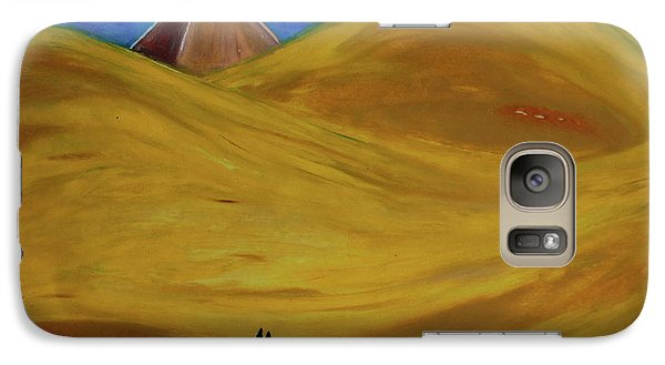 Galaxy Case featuring the drawing Travelers Desert by First Star Art