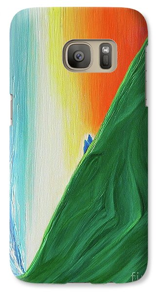 Galaxy Case featuring the painting Travelers Rainbow Waterfall By Jrr by First Star Art