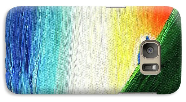 Galaxy Case featuring the painting Travelers Rainbow Waterfall Detail by First Star Art