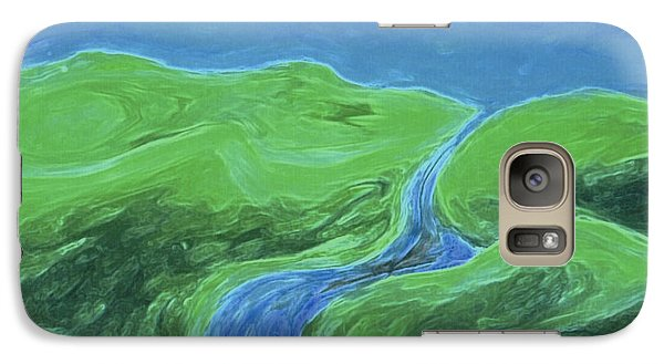 Galaxy Case featuring the painting Travelers Upstream By Jrr by First Star Art