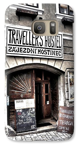 Galaxy Case featuring the photograph Travellers Hostel - Cesky Krumlov by Juergen Weiss