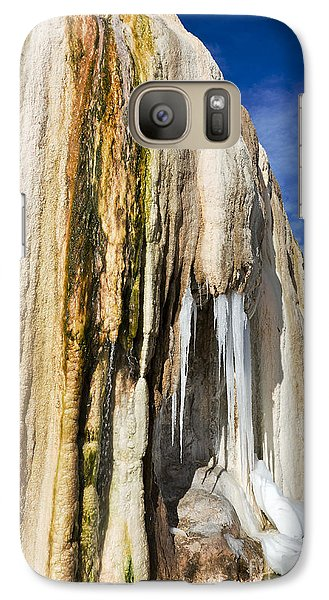 Galaxy Case featuring the photograph Travertine And Water And Ice by Sue Smith