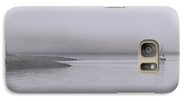 Galaxy Case featuring the photograph Trawler In Fog by Marty Saccone