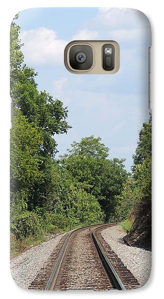 Galaxy Case featuring the photograph Traxs To Anywhere by Aaron Martens