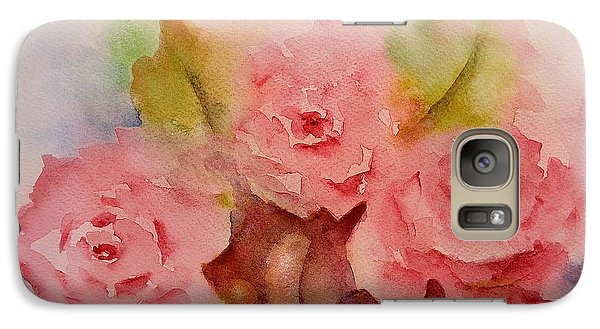 Galaxy Case featuring the painting Tre Rose by Kathleen Pio