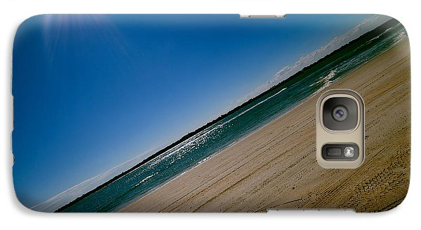 Galaxy Case featuring the photograph Treads In The Sand by DigiArt Diaries by Vicky B Fuller