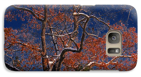 Galaxy Case featuring the photograph Tree Against Dark Sky by Andy Lawless