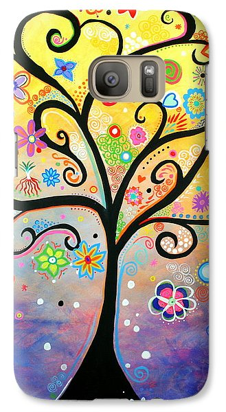 Galaxy Case featuring the painting Tree Art Fantasy Abstract by Bob Baker and Pooki Lee