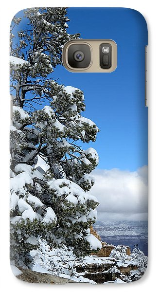Galaxy Case featuring the photograph Tree At The Grand Canyon by Laurel Powell