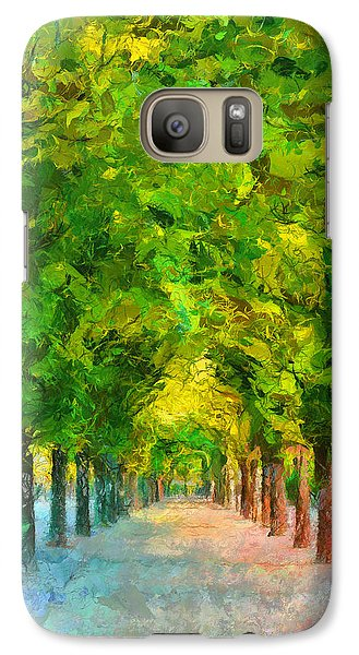 Tree Avenue In The Vienna Augarten Galaxy S7 Case