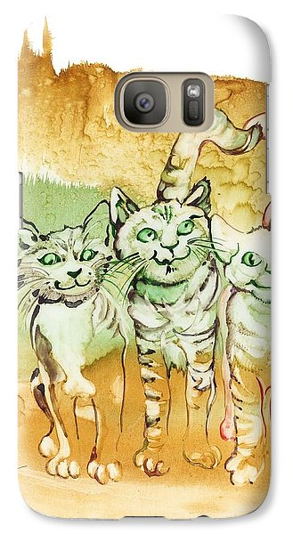 Galaxy Case featuring the painting Tree Brothers  by Anna Ewa Miarczynska