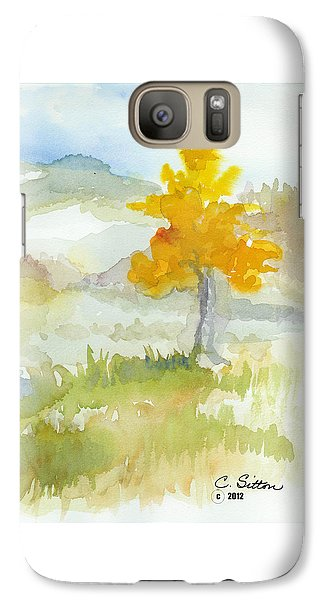 Galaxy Case featuring the painting Tree by C Sitton