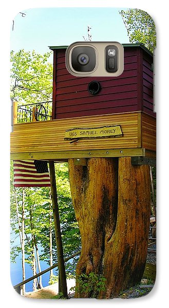 Galaxy Case featuring the photograph Tree House Boat by Sherman Perry