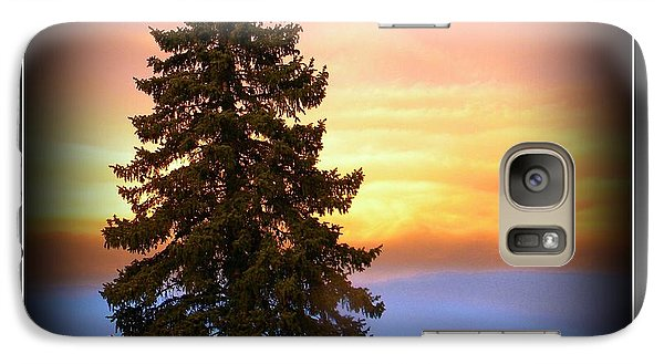 Galaxy Case featuring the photograph Tree In Sunrise by Michelle Frizzell-Thompson