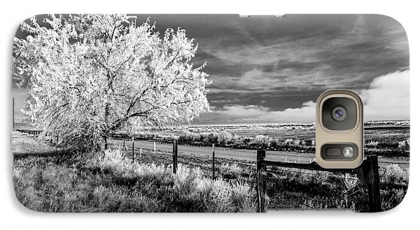 Galaxy Case featuring the photograph Tree In Winter by Jim Snyder