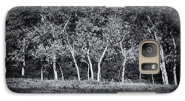 Galaxy Case featuring the photograph Tree Line In Autumn  by Yvonne Emerson AKA RavenSoul