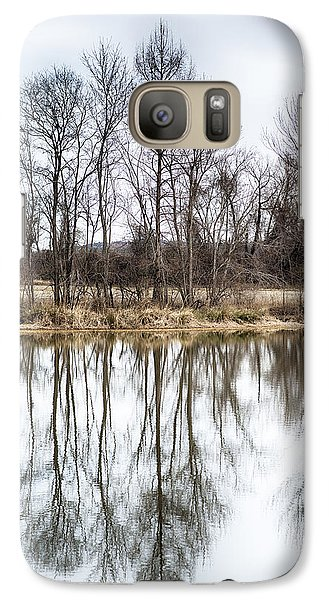 Galaxy Case featuring the photograph Tree Line In Winter  by Yvonne Emerson AKA RavenSoul