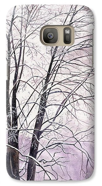 Galaxy Case featuring the painting Tree Memories by Melly Terpening