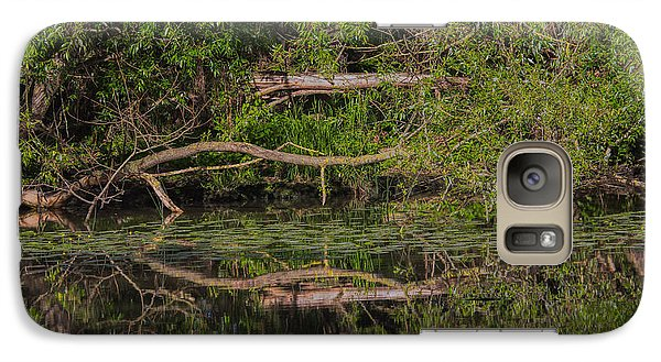 Galaxy Case featuring the photograph Tree Mirroring In Water by Leif Sohlman