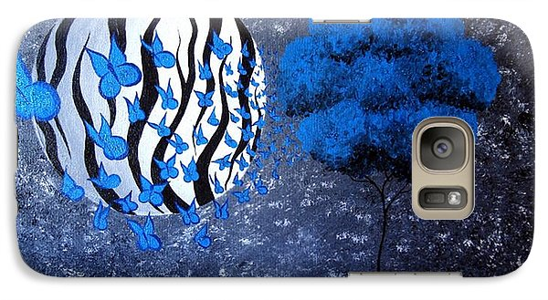 Galaxy Case featuring the painting Tree Of Butterflies by Oddball Art Co by Lizzy Love